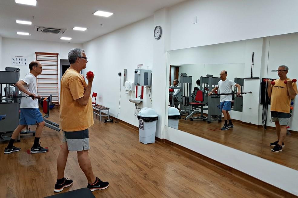 Clínicas de reabilitação cardíaca são uma espécie de academia monitorada (Foto: Renata Domingues)