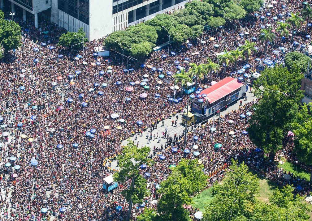 Desfile do Bloco da Preta, no Centro do Rio — Foto: Fernando Maia/Riotur