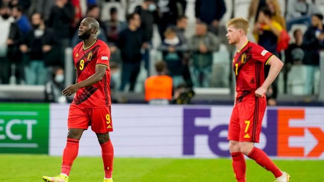 Lukaku e De Bruyne lamentam a derrota da Bélgica para a França, na Liga das Nações