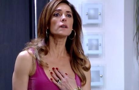 Na quinta (27), Tereza Cristina cairá numa armação de Griselda e ficará trancada na sauna com ratos  Reprodução