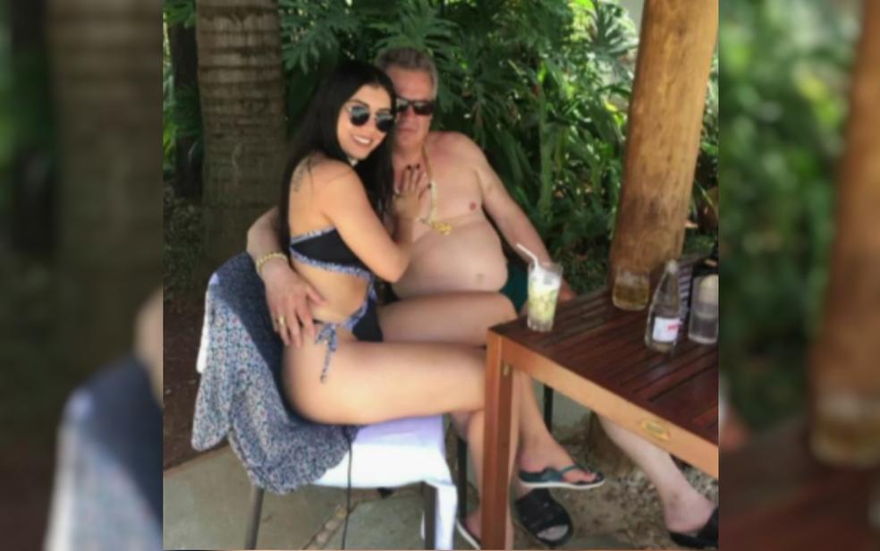 Casal estava junto há cerca de seis meses e morava na residência do empresário  (Foto: TV Anhanguera/Reprodução)