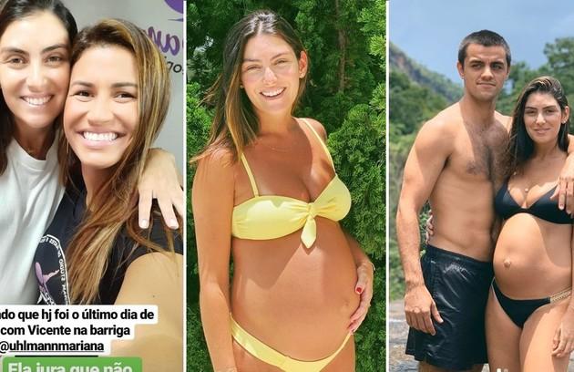 Grávida de Felipe Simas, Mariana Uhlmann deixa professora incrédula com exercícios no fim da gestação (Foto: Reprodução/Instagram)