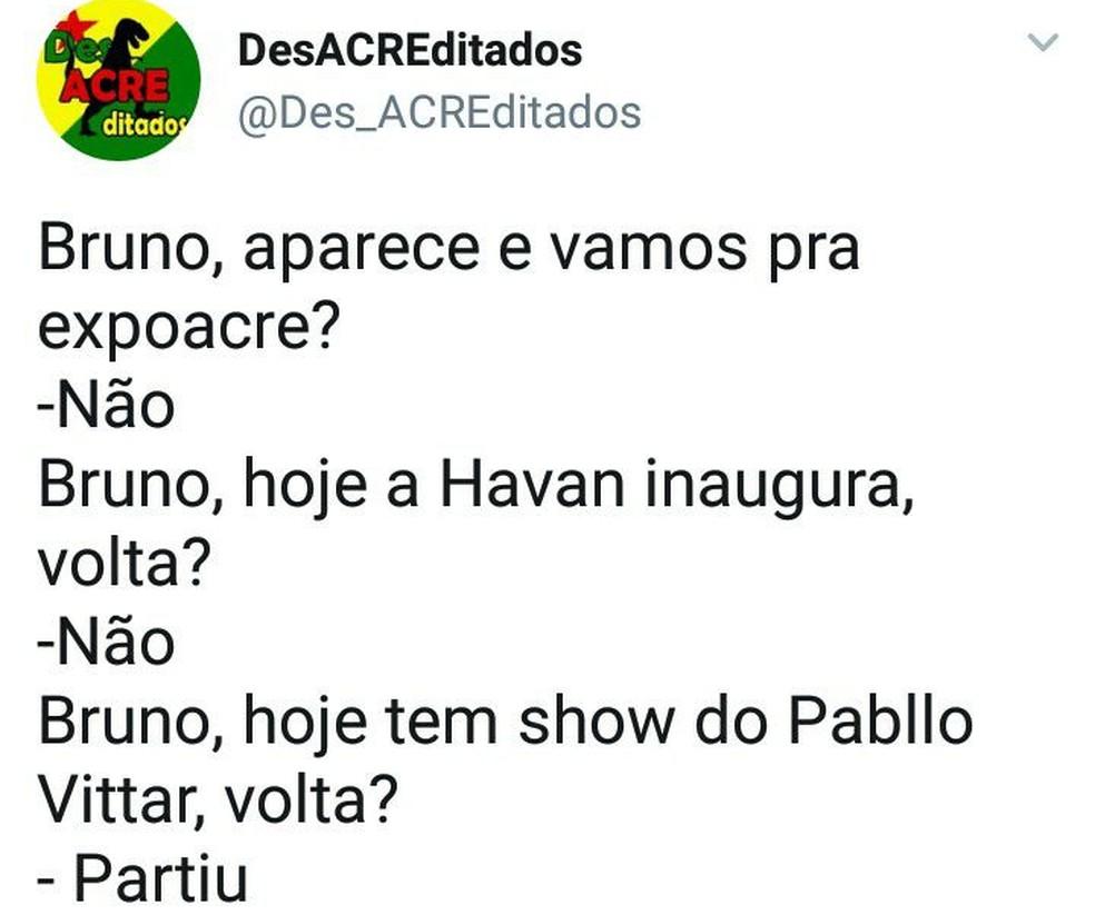 Bruno Borges estava desaparecido desde o dia 27 de março (Foto: Reprodução/Facebook)