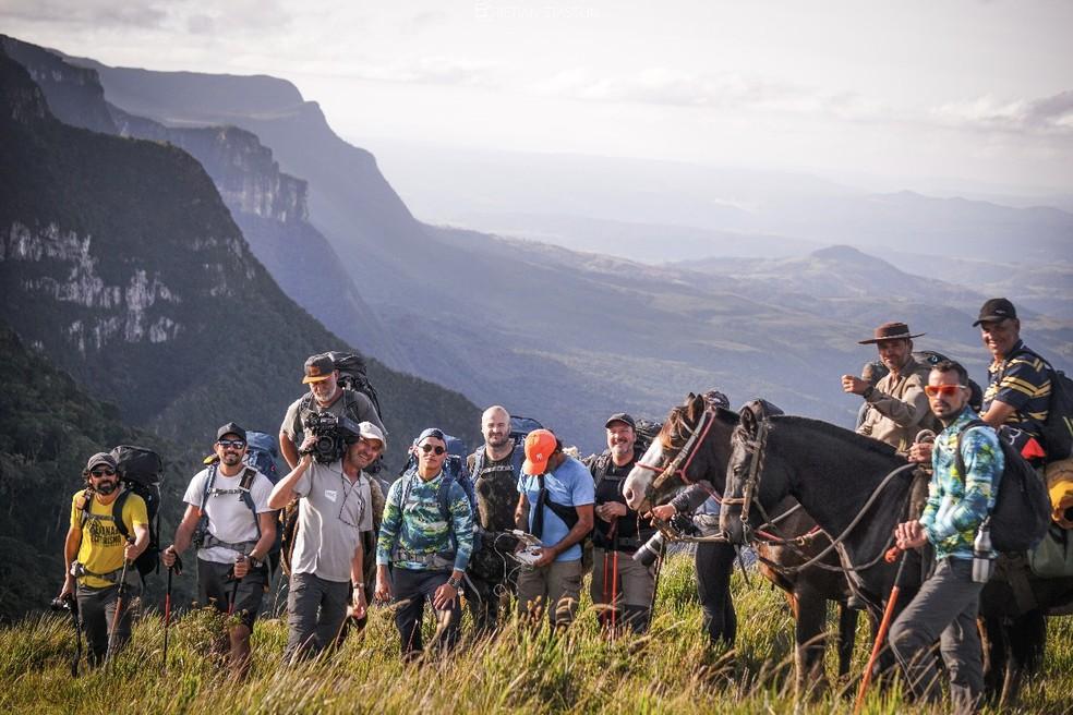 Equipe percorreu a Serra catarinense para mostrar uma parte do país que poucos conhecem (Foto: Jean Souza/NSC TV)