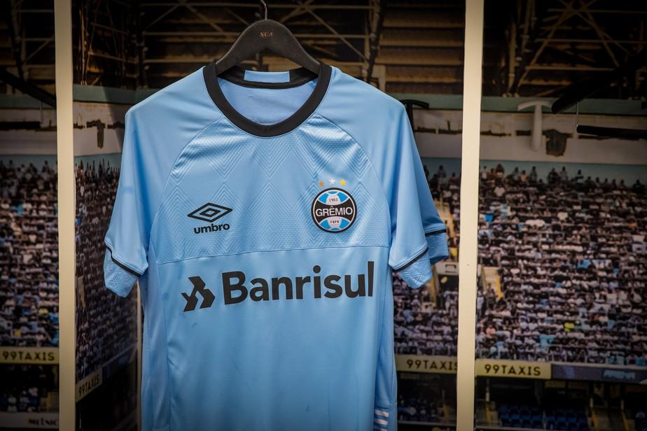 37c3992d2d44f ... Grêmio lança segunda camisa celeste em homenagem ao Uruguai