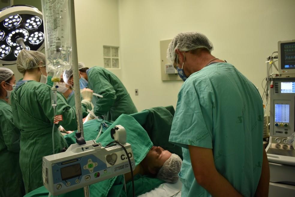 Parto dos trigêmeos foi tranquilo, segundo equipe do hospital de Blumenau — Foto: Larissa Machado/Hospital Santo Antônio