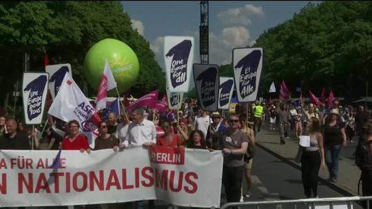 Europeus protestam por união e contra nacionalismo