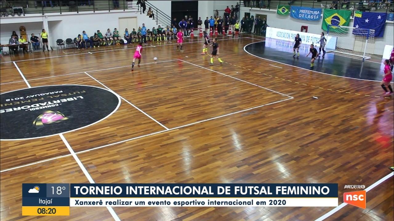 Torneio internacional de Futsal feminino em Xanxerê