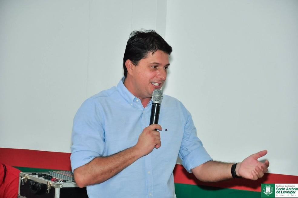 Prefeito Valdir Pereira de Castro Filho, de Santo Antônio de Leverger — Foto: Prefeitura de Santo Antônio de Leverger
