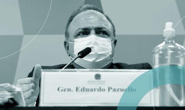 General Eduardo Pazuello em depoimento na CPI da Covid: sem farda, apresentou-se como 'homem comum'