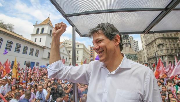 O prefeito Fernando Haddad (PT) faz carreata durante campanha eleitoral em São Paulo (Foto: Ricardo Stuckert/Instituto Lula)