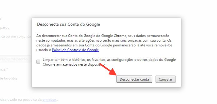 Desconectando uma conta do Google do Chrome (Foto: Reprodu??o/Marvin Costa)