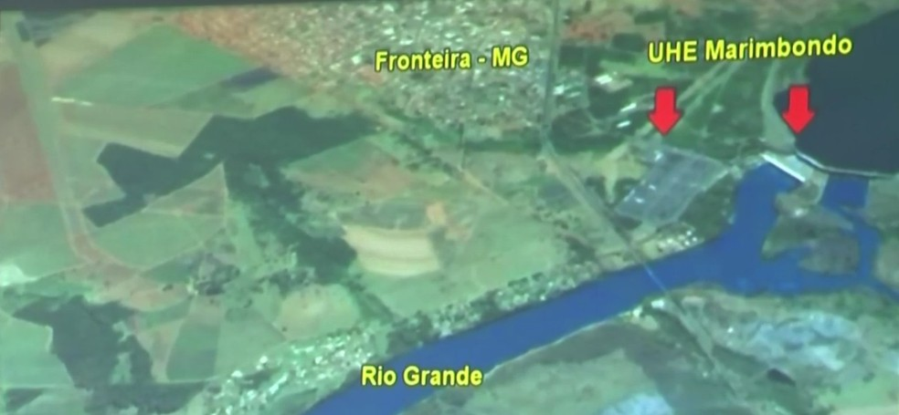 Projeto visa captar a água do rio Grande, próximo à usina hidrelétrica de Marimbondo, em Fronteira (SP) (Foto: Reprodução/ TV TEM)