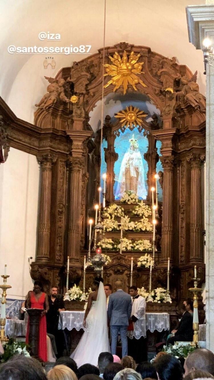 Casamento de Iza e Sérgio Santos (Foto: Reprodução/Instagram)