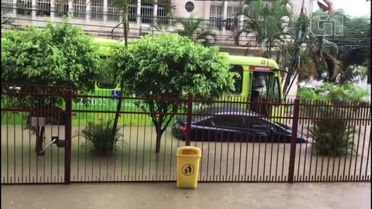 Chuva forte alaga bairros de Niterói e São Gonçalo na Região Metropolitana do Rio