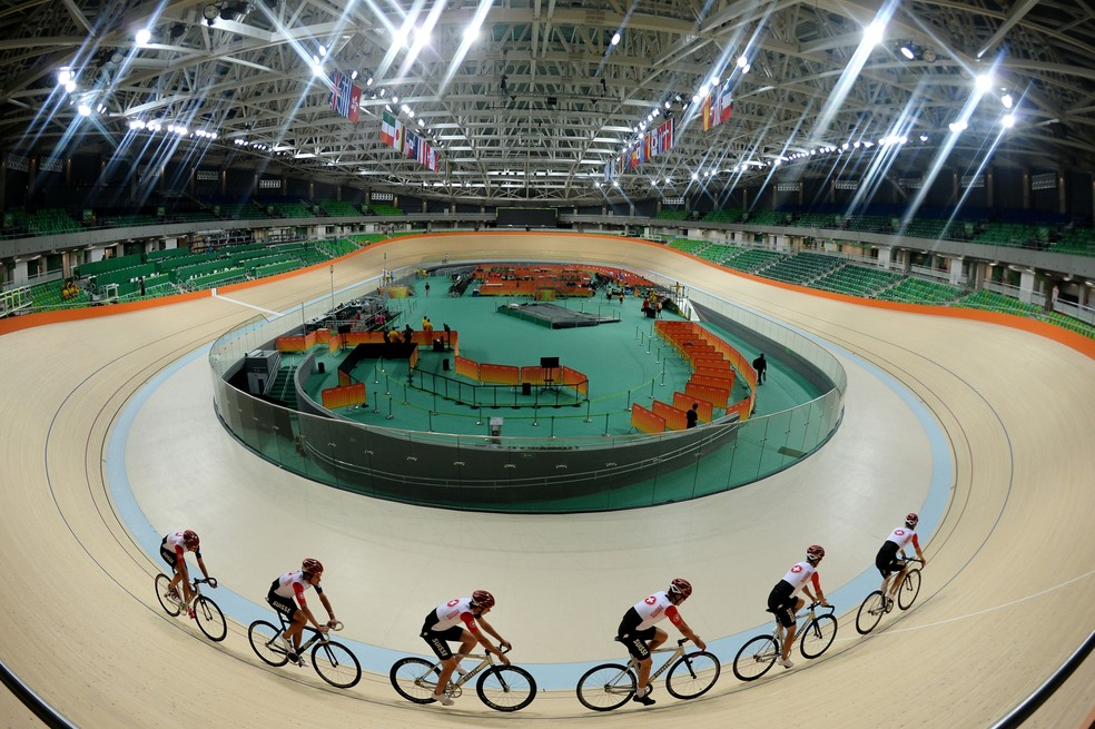 Velódromo do Rio foi inaugurado com atraso e não teve evento-teste olímpico (Foto: Alexey Filippov/Sputnik AFP)