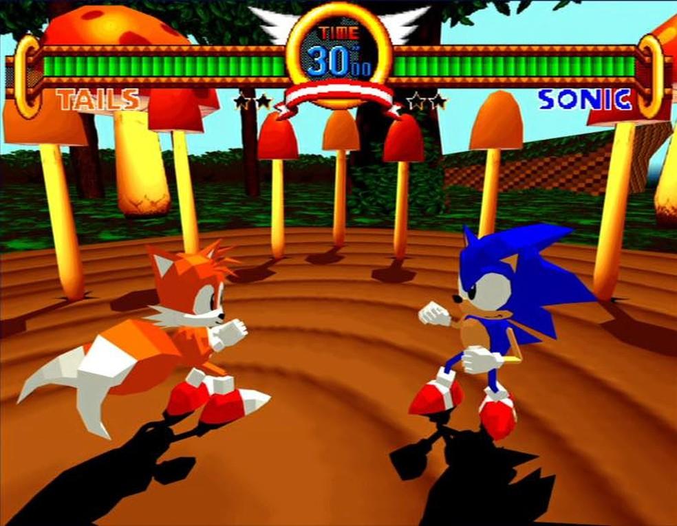 Sonic lutador é outra versão polêmica do ouriço — Foto: Reprodução/Marcos Silva