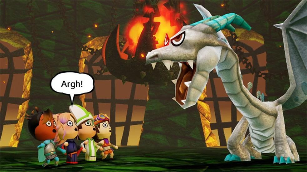 Em Miitopia seus amigos viram heróis, princesas e vilões em uma jornada de RPG — Foto: Reprodução/Nintendo