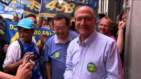Alckmin comenta pesquisas e diz que 'grandes viradas são no finalzinho'