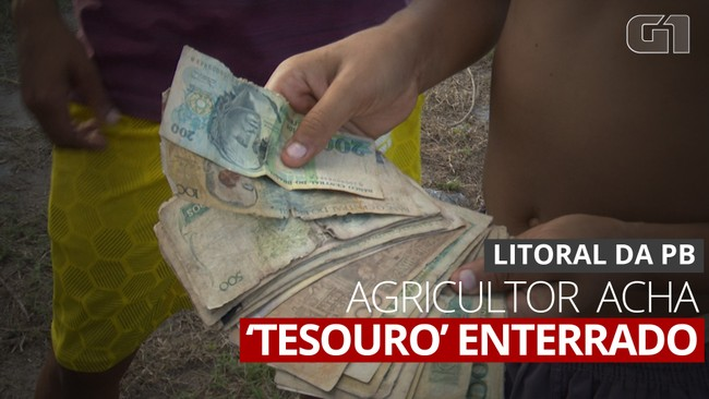 VÍDEO: Agricultor fala como encontrou dezenas de cédulas antigas em assentamento na PB