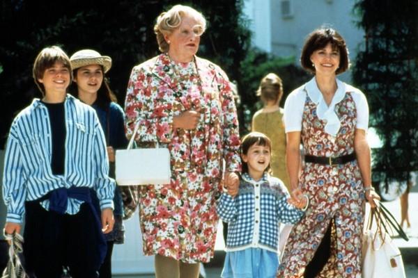 Robbin Williams em cena de Uma Babá Quase Perfeita (1993) (Foto: Reprodução)
