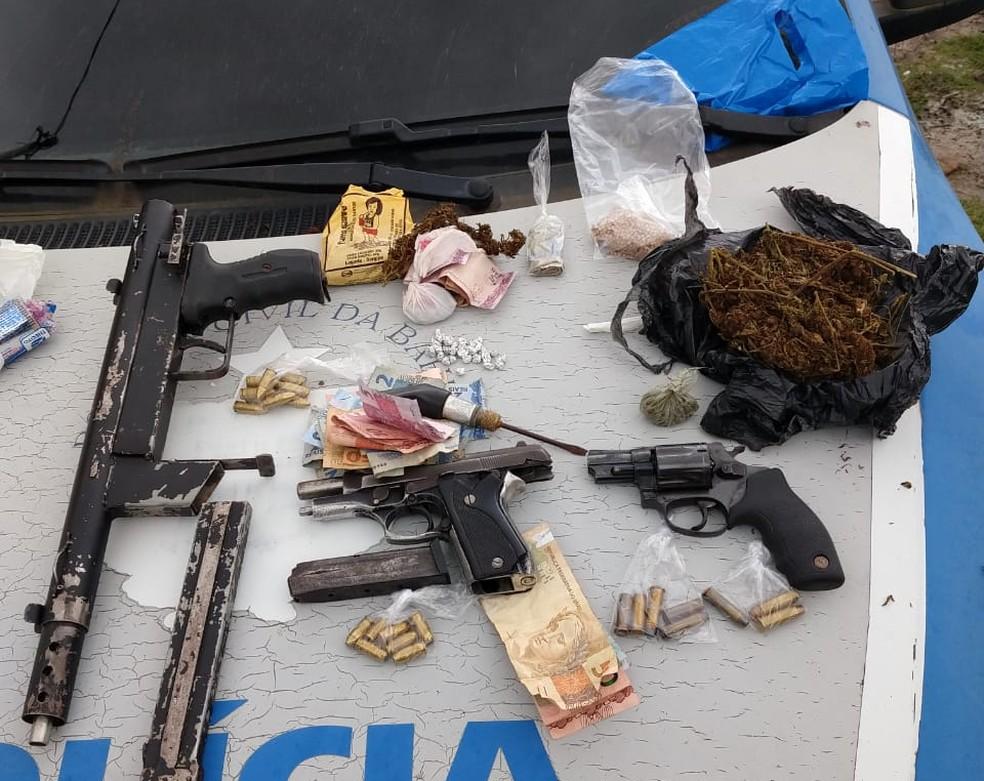 Suspeitos de integrar organização criminosa são mortos a tiros em confronto com a polícia na Bahia — Foto: Polícia Civil/Divulgação