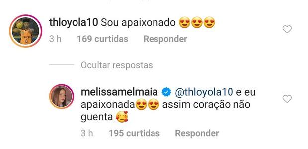 Comentário de Mel Maia (Foto: Reprodução/Instagram)