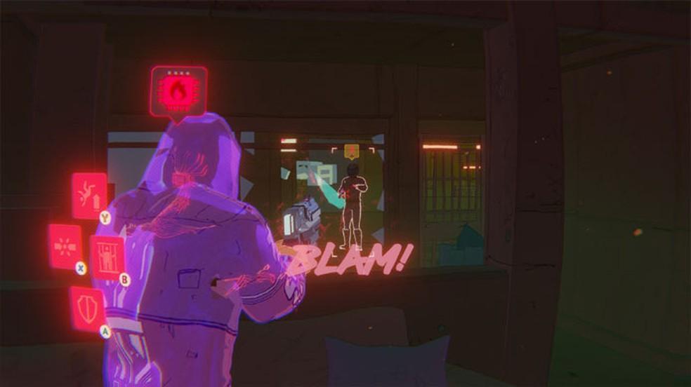 Foreclosed traz uma profunda história cyberpunk com visual de história em quadrinhos — Foto: Reprodução/Steam