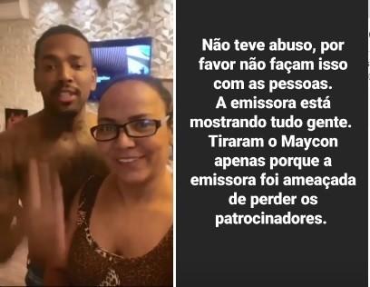 Nego do Borel e a mãe, Roseli Gomes, em sua casa no Rio (Foto: Reprodução)