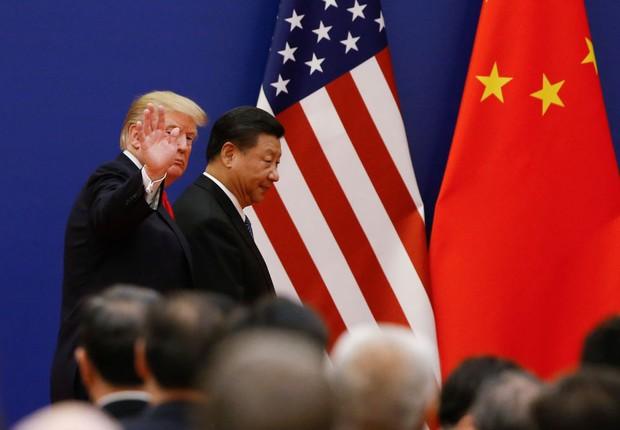 Xi Jinping e Donald Trump (Foto: Thomas Peter-Pool/Getty Images)
