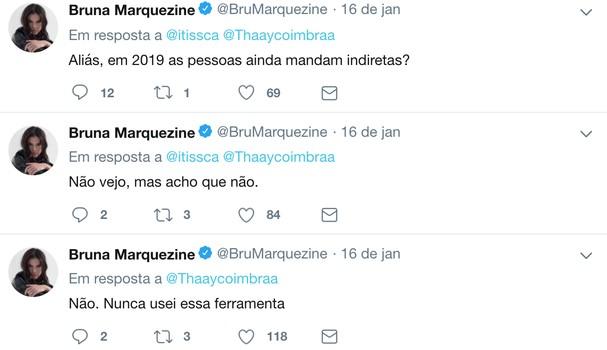 Bruna Marquezine conversa com fãs no Twitter (Foto: Instagram/Reprodução)