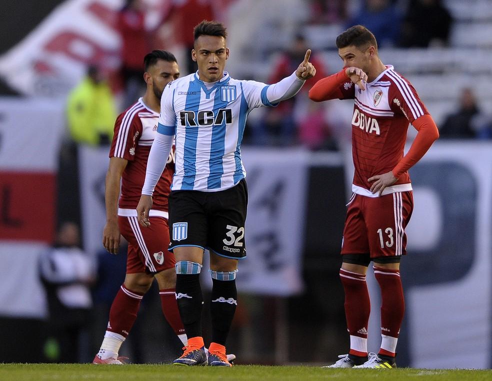 f4b8b8df6b ... Atacante Lautaro Martínez é uma das preocupações do Cruzeiro para o  jogo de terça — Foto