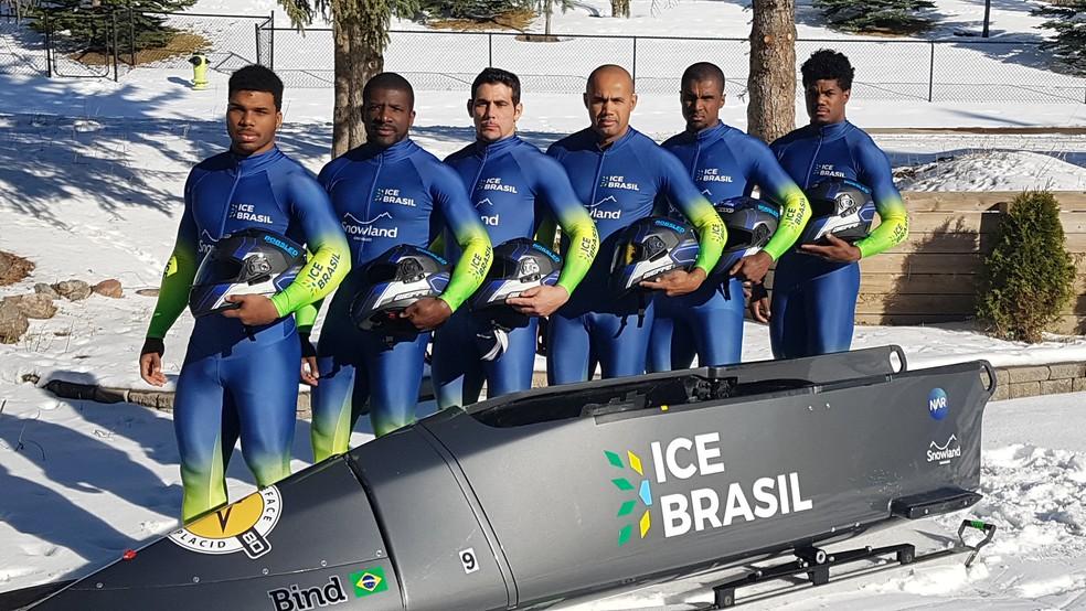 Seleção brasileira de bobsled vai competir nos trenós de dois e de quatro nos Jogos Olímpicos de Inverno de PyeongChang (Foto: Divulgação/ CBDG)