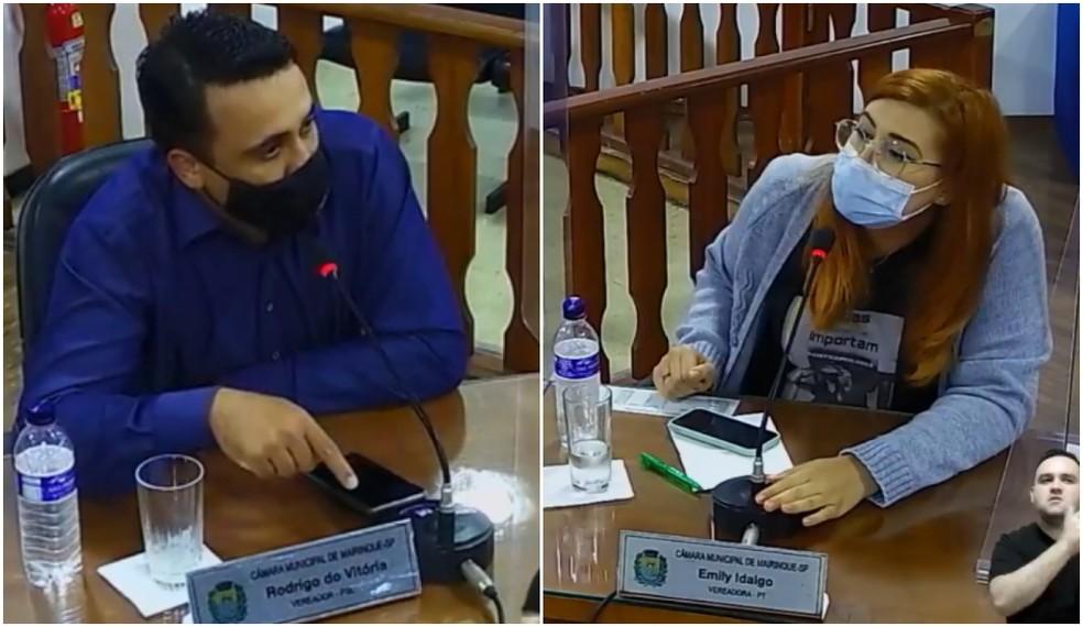 Vereador diz que pessoas LGBTQIA+ morrem porque 'andam com noia e bandido' durante sessão em Mairinque (SP) — Foto: Reprodução