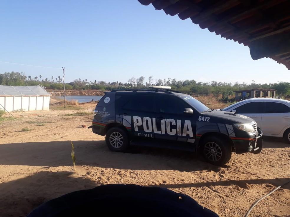 Viveiro de camarão em Aracati, no litoral cearense, usava energia furtada. — Foto: Divulgação/Enel