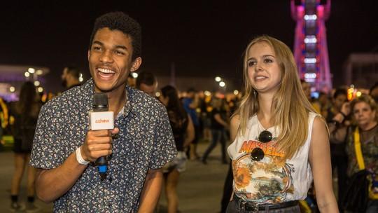 Isabella Scherer e Juan Paiva elegem melhor look do Rock in Rio