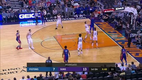 Melhores momentos: Detroit Pistons 115 x 88 Phoenix Suns pela NBA