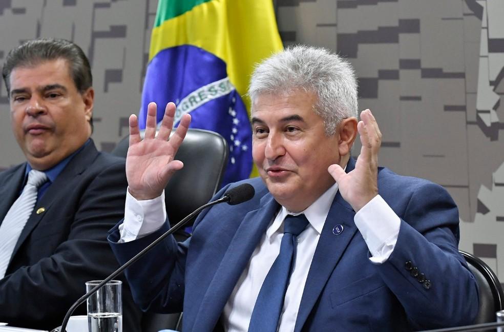 Ministro da Ciência e Tecnologia, Marcos Pontes, durante audiência no Senado — Foto: Geraldo Magela/Agência Senado