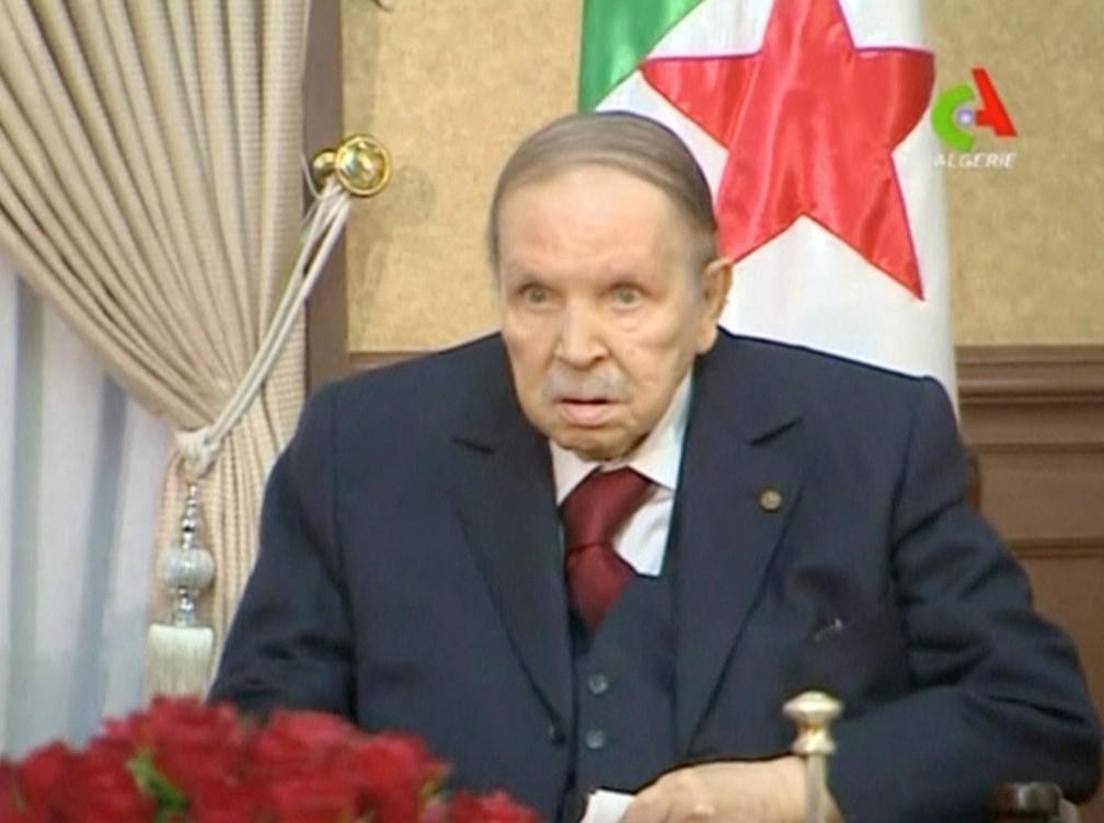 Abdelaziz Bouteflika, presidente da Argélia, em foto de março de 2019 — Foto: Algerian TV/Handout via Reuters