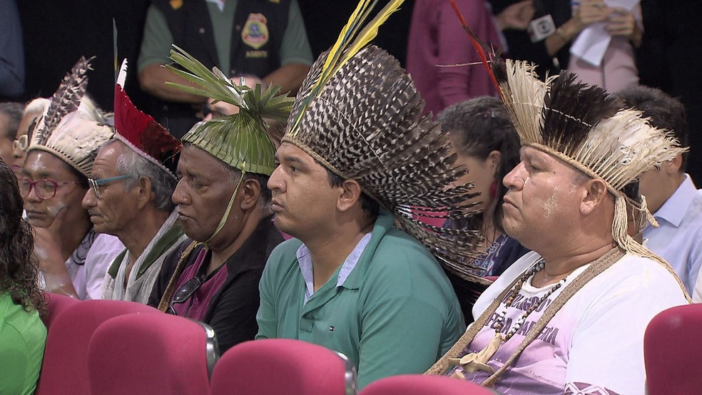 Índios Pankararu conseguiram na Justiça reintegração de posse de terra, no Sertão de Pernambuco (Foto: Reprodução/TV Globo)