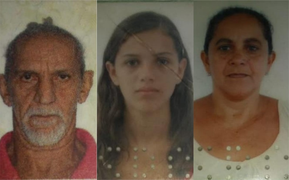 Da esquerda: Livingstone, Ruth e Francisca Barros Tavares — Foto: Montagem/G1