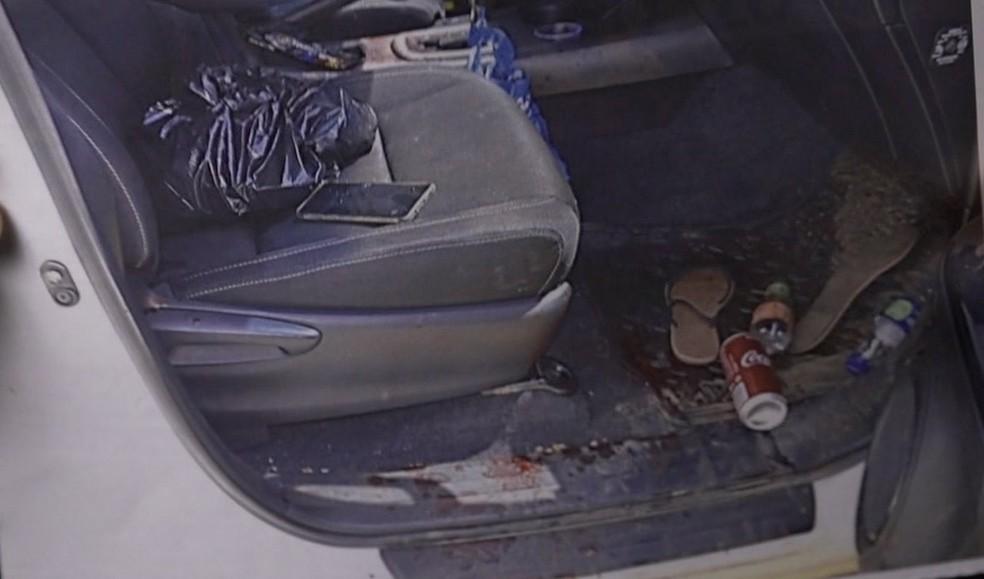 Julia Barbosa foi atingida na cabeça — Foto: TVCA/Reprodução