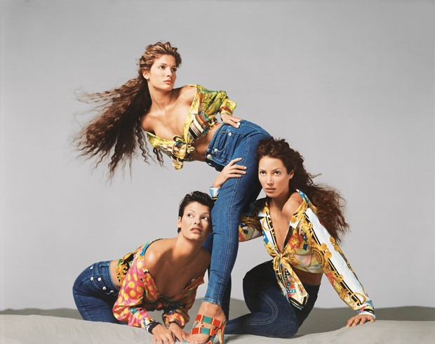 Linda Evangelista, Stephanie Seymour, and Christy Turlington, Versace spring/summer 1993 campaign, New York, November 1992 (Foto: © 2014 The Richard Avedon Foundation. Courtesy Gagosian Gallery.)