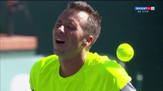 """Kohlschreiber simula dor em """"bolada"""" de Del Potro pelas quartas de final do Masters 1000"""
