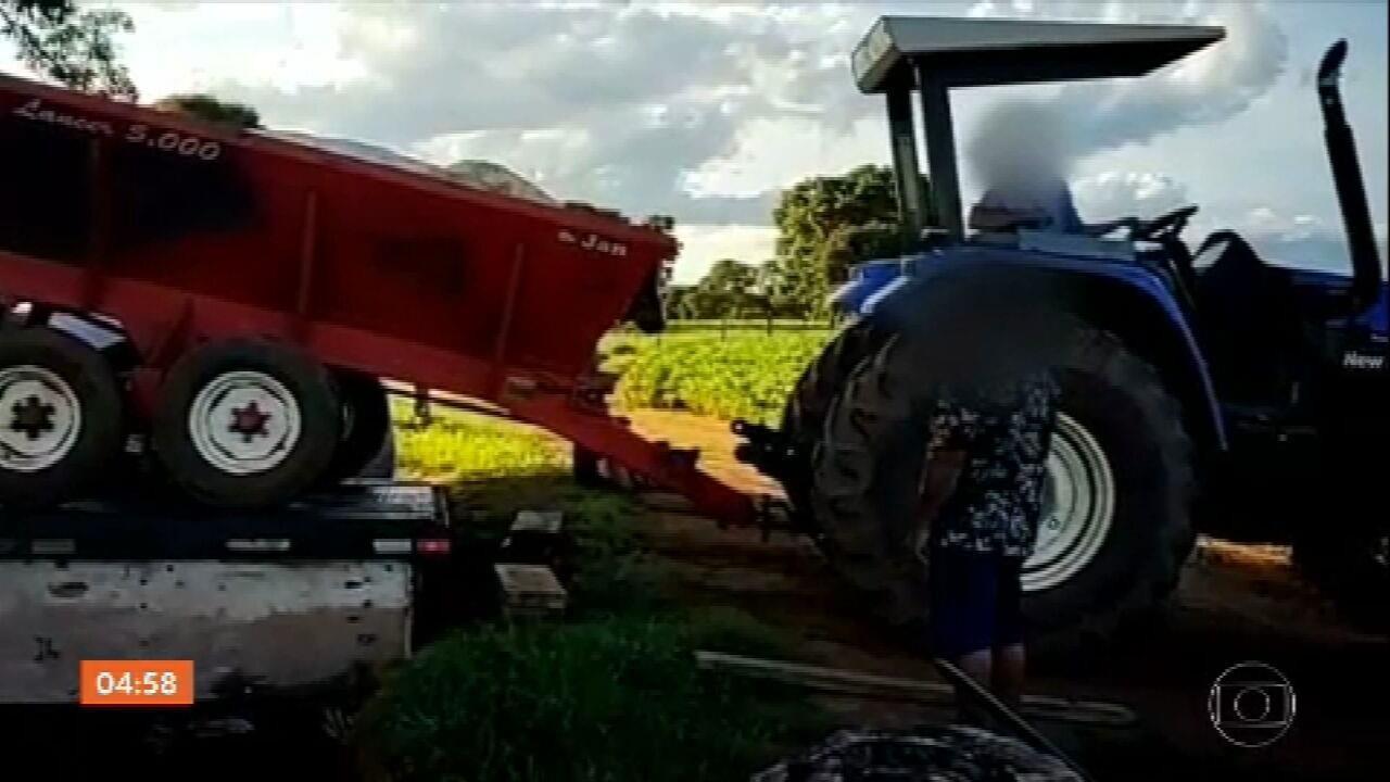 Polícia de GO apreende máquinas agrícolas e agrotóxicos roubados