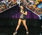 Anitta no cenário de seu novo programa | Arquivo pessoal