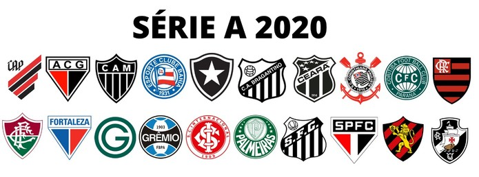 """Resultado de imagem para FUTEBOL - BRASILEIRÃO -  SÉRIE   """"A"""" - 2020 - LOGOS"""