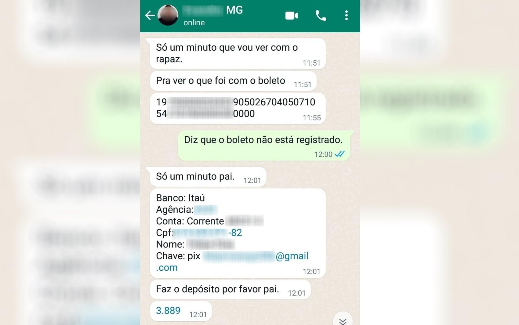 Homem é preso em Goiânia suspeito de se passar por irmão de jornalista de MG para aplicar golpe de quase R$ 4 mil no pai dela