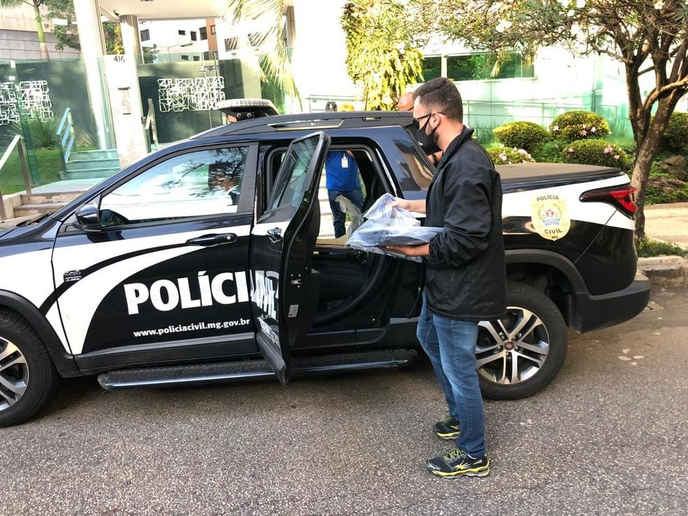Operação da Polícia Civil no bairro Belvedere, em BH, nesta quinta-feira (16) — Foto: Danilo Girundi/TV Globo