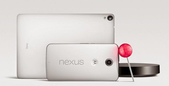 Nexus 6 e Nexus 9 são os novos integrantes da família de smartphones do Google (Foto: Divulgação)